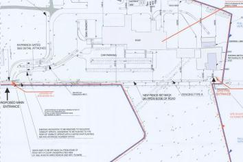 Proposed  site layout plan for proposed meat plant, near Banagher