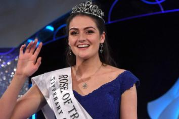 Rose of Tralee putting her shoulder to the Offaly ladies football wheel