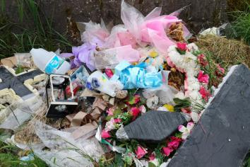 Domestic waste removed from local graveyard