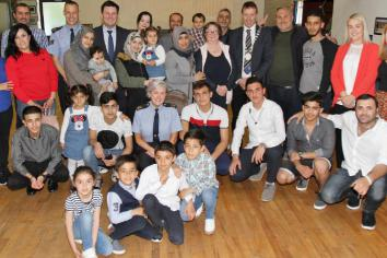 Syrian refugees and neighbours meet in Birr Rugby Club